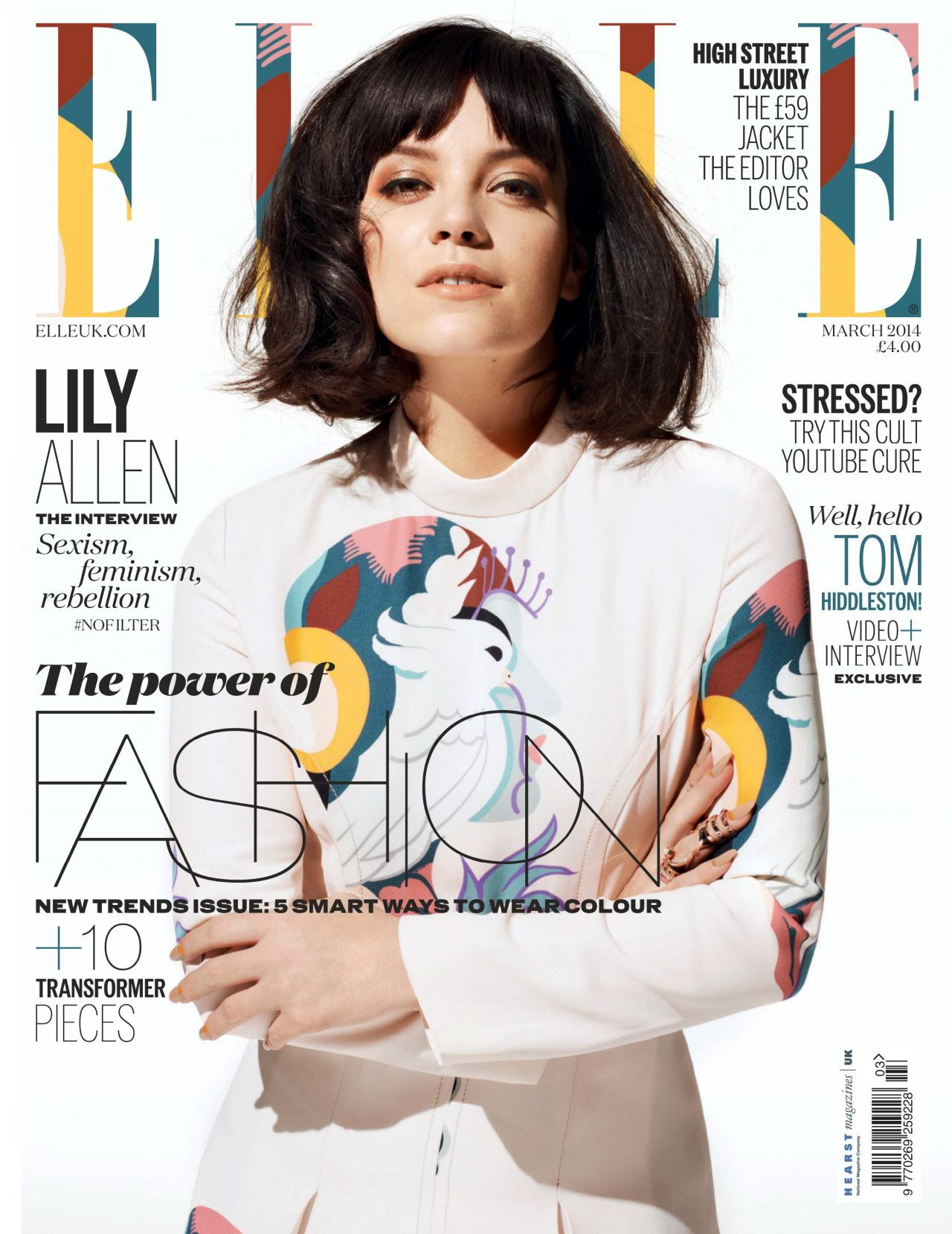 Magazines of the month lily allen jennifer lopez emma for Elle magazine this month