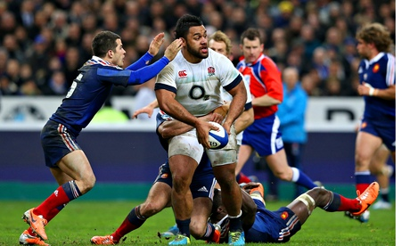 Billy Vunipola in action, France v England, RBS Six Nations